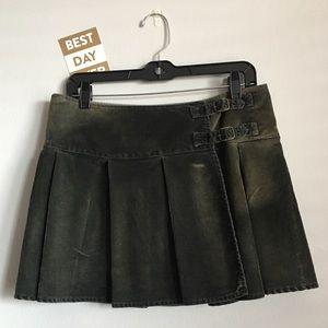 {GAP}  Vintage Gap 1969 Corduroy Wrap Mini Skirt